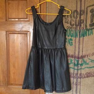 Pleather mini dress